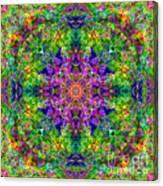 Violet Cosmos Mandala Canvas Print