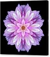 Violet Dahlia I Flower Mandala Canvas Print