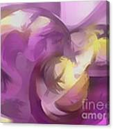 Violet Summer Pastel Abstract Canvas Print