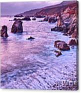 Violet Tides - Rocky Coast From Soberanes Point In Garrapata State  Canvas Print