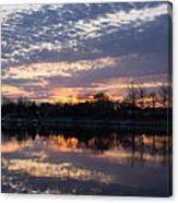 Violet Twilight On The Lake Canvas Print