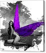 Violet Wings Canvas Print