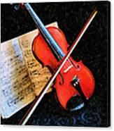 Violin Impression Redux Canvas Print