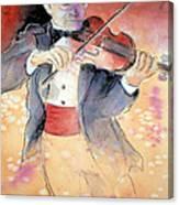 Violin Man Canvas Print