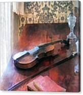 Violin On Credenza Canvas Print