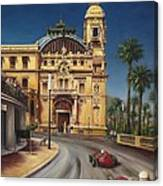 Virage De Massenet - 1959 Grand Prix De Monaco Canvas Print