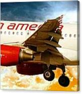 Virgin America A320 Canvas Print