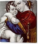 Virgin And Child Circa 1856  Canvas Print
