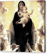 Virgin And Child Fractalius Canvas Print