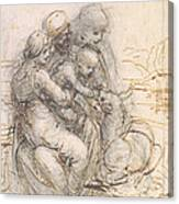Virgin And Child With St. Anne Canvas Print