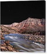 Virgin River At Night 2 Canvas Print