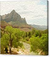 Virgin River Through Zion National Park 2 Canvas Print
