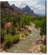 Virgin River Through Zion National Park Canvas Print