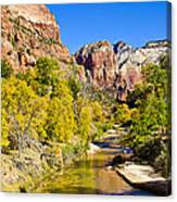 Virgin River - Zion Canvas Print