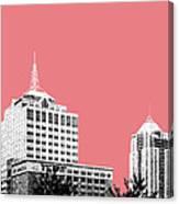 Virginia Beach Skyline - Light Red Canvas Print