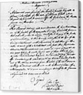 Virginia Council, 1778 Canvas Print
