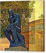 Visit To The Thinker Canvas Print