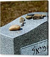 Visitation Stones On Jewish Grave Canvas Print