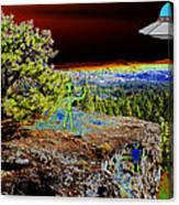 Visiting Rimrock In Spokane Canvas Print