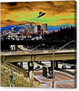 Visiting Spokane Canvas Print