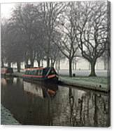 Visitor Moorings Beside Shobnal Fields Canvas Print