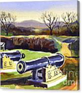 Visitors Welcome At Fort Davidson Canvas Print