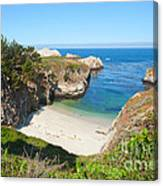 Vista Of China Cove At Point Lobos State Reserve California Canvas Print