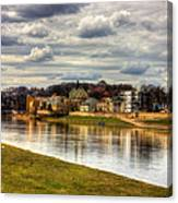 Vistula River In Cracow Canvas Print