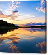 Vistula River Sunset Canvas Print