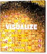 Visualize Gold Canvas Print