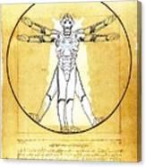 Vitruvian Cyberman Canvas Print