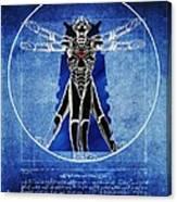 Vitruvian Cyberman In Deep Space  Canvas Print
