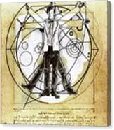 Vitruvian Dr Who Canvas Print