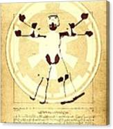Vitruvian Stormtrooper Ghost Canvas Print