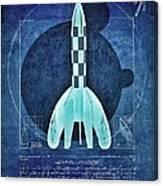 Vitruvian Tintin In Space Canvas Print