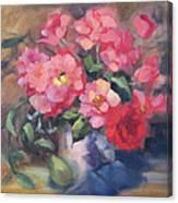 Vivacious Roses Canvas Print