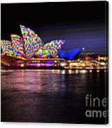 Vivid Sydney 2014 - Opera House 5 By Kaye Menner Canvas Print