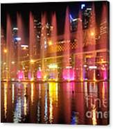Vivid Sydney By Kaye Menner -  Vivid Aquatique  Canvas Print