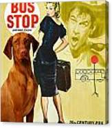 Vizsla Art Canvas Print - Bus Stop Movie Poster Canvas Print