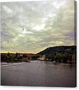 Vltava View Revisited - Prague Canvas Print