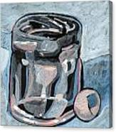 Vodka Shot Glass In Snow  Canvas Print