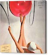 Vogue Cover Illustration Of A Woman Balancing Canvas Print