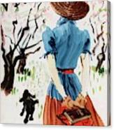 Vogue Cover Illustration Of A Woman Walking Canvas Print