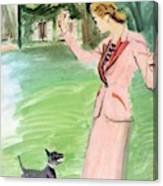Vogue Magazine Cover Featuring A Woman Playing Canvas Print