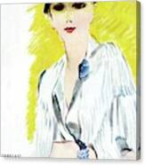 Vogue Magazine Cover Featuring A Woman Wearing Canvas Print