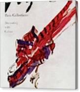 Vogue Magazine Cover Featuring Model Dorian Leigh Canvas Print