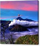 Volcano In The Clouds Canvas Print
