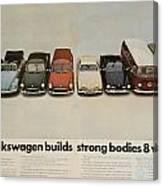 Volkswagen Body Facts Canvas Print