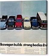 Volkswagen Builds Strong Bodies Eight Ways Canvas Print