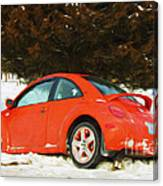 Volkswagen Snow Day Canvas Print